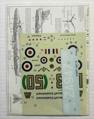 MODELDECAL 1/72 1683. 079 DAKOTA C3 RAE - 50TH ANNIVERSARY/IAT FAIRFORD  HUNTER T7-RAE AND RAF/IAM  GAZELLE HT3  ETPS