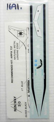 1/144 1691. RUNWAY 30 RW3001 MAERSK - BOEING 737-200