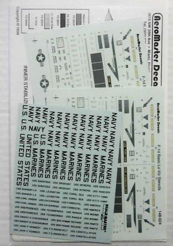AEROMASTER 1/48 1581.148-024 F-14 BASIC LO-VIZ STENCILS