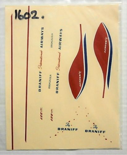 1/144 1602. FLIGHT 501 CUSTOM DECALS N501-1 BRANIFF INTERNATIONAL AIRWAYS 707-227
