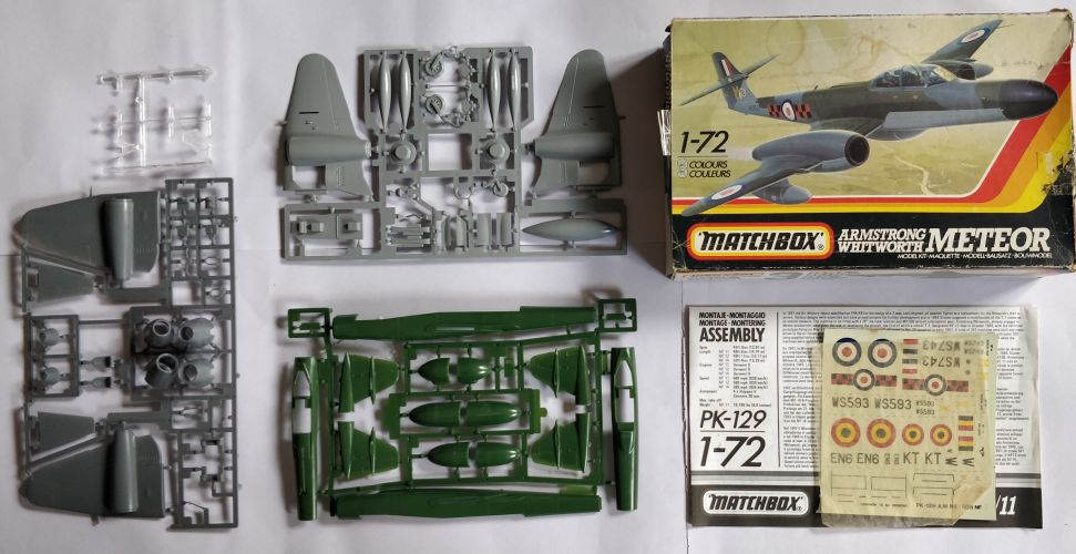 KINGKIT MODEL SCRAPYARD 1/72 MATCHBOX - PK-129 ARMSTRONG WHITWORTH METEOR NF.14/12/11 - INCOMPLETE