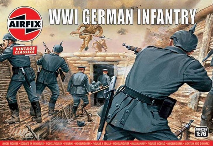 AIRFIX 1/72 A00726V VINTAGE CLASSICS GERMAN INFANTRY WWI