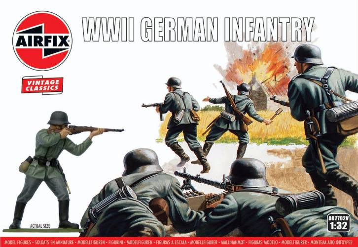 AIRFIX 1/32 A02702V VINTAGE CLASSICS WWII GERMAN INFANTRY
