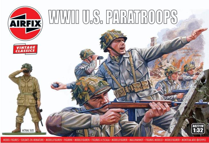 AIRFIX 1/32 A02711V VINTAGE CLASSICS WWII U.S. PARATROOPS