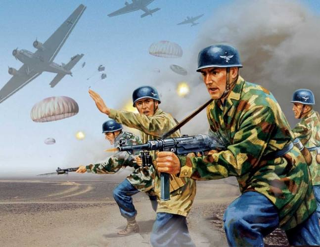 AIRFIX 1/32 A02712V VINTAGE CLASSICS WWII GERMAN PARATROOPS