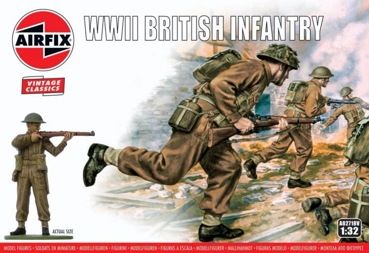 AIRFIX 1/32 A02718V VINTAGE CLASSICS WWII BRITISH INFANTRY