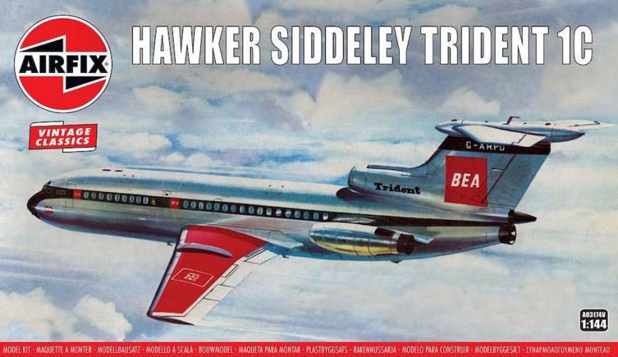 AIRFIX 1/144 A03174V VINTAGE CLASSICS HAWKER SIDDELEY TRIDENT 1C