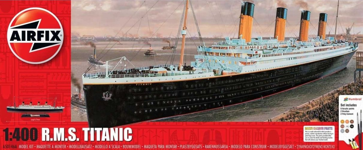 AIRFIX 1/400 50146 R.M.S. TITANIC GIFT SET  UK SALE ONLY