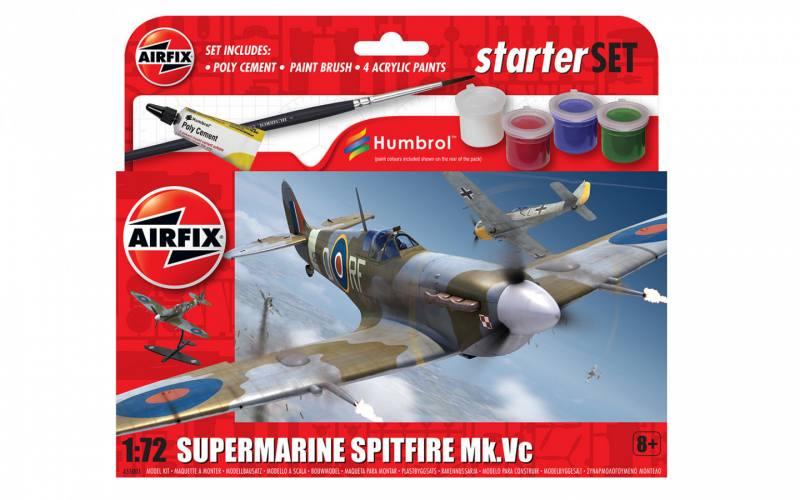 AIRFIX 1/72 55001 SUPERMARINE SPITFIRE MK.Vc STARTER SET