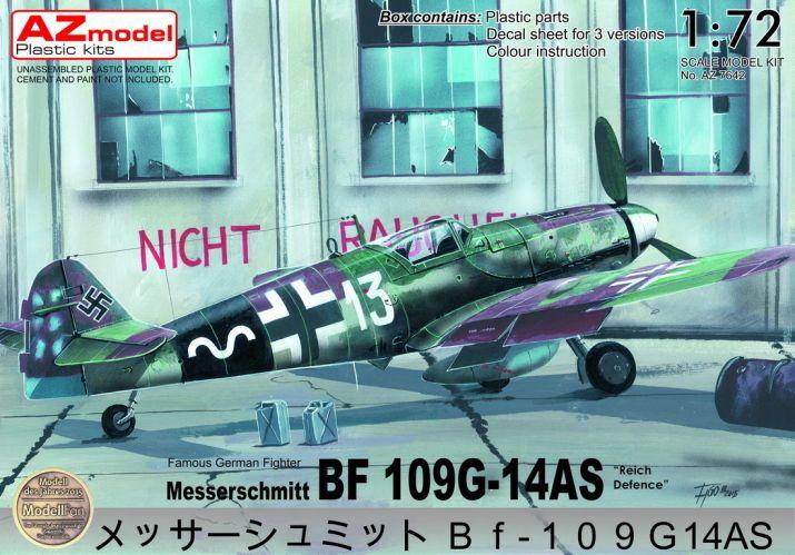 AZ MODEL 1/72 7642 MESSERSCHMITT BF 109G-14AS REICH DEFENCE