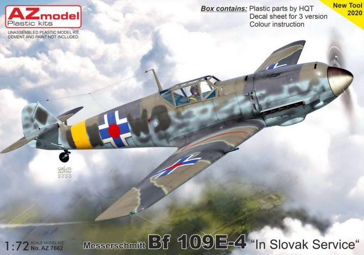 AZ MODEL 1/72 7662 MESSERSCHMITT BF 109E-4 SLOVAK SERVICE