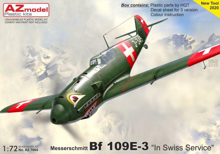 AZ MODEL 1/72 7664 MESSERSCHMITT BF 109E-3 SWISS SERVICE