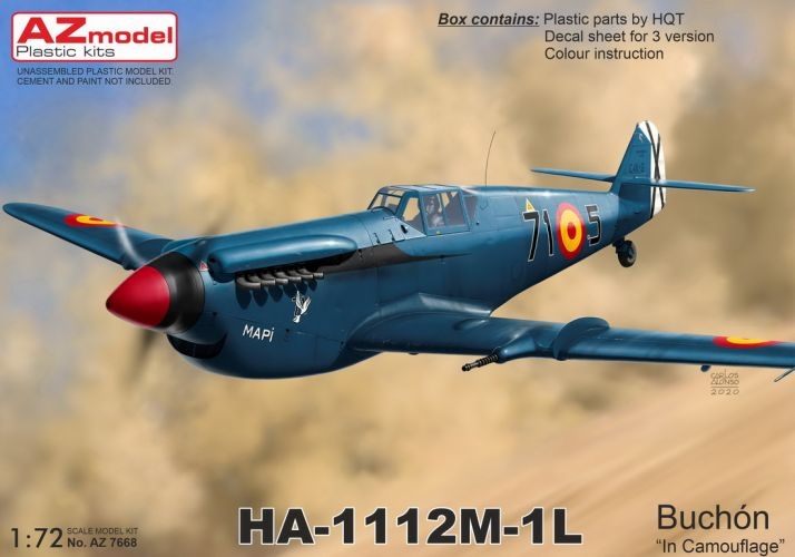 AZ MODEL 1/72 7668 HA-1112M-1L BUCHON CAMOUFLAGE