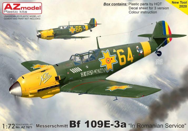 AZ MODEL 1/72 7671 MESSERSCHMITT BF 109E-3A ROMANIAN SERVICE