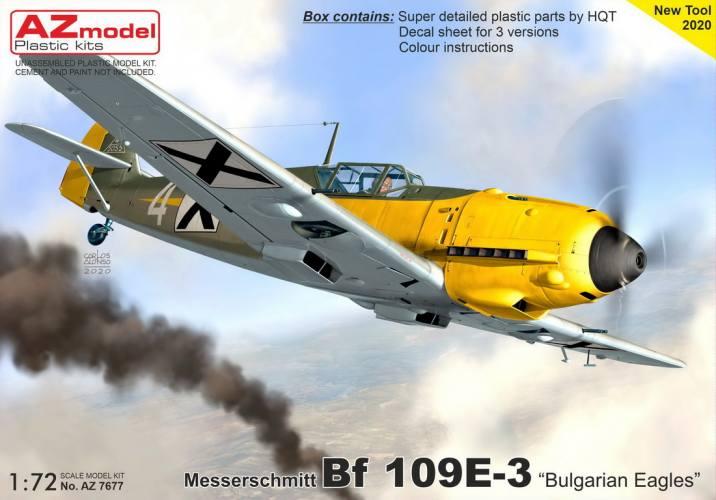 AZ MODEL 1/72 7677 MESSERSCHMITT BF 109E-3 BULGARIAN EAGLES