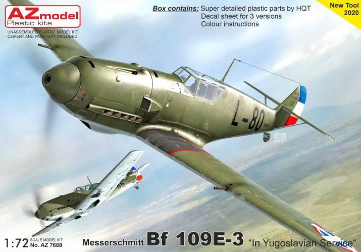 AZ MODEL 1/72 7688 MESSERSCHMITT BF109E-3 IN YUGOSLAVIAN SERVICE