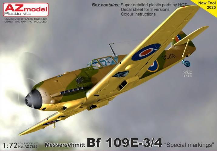 AZ MODEL 1/72 7689 MESSERSCHMITT BF109E-3/4 SPECIAL MARKINGS