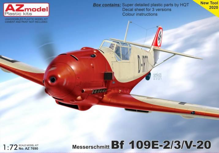 AZ MODEL 1/72 7690 MESSERSCHMITT BF109E-2/3/V-20
