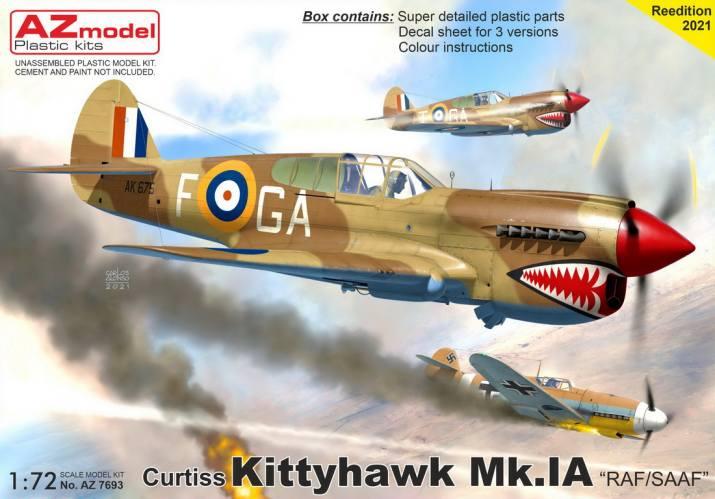 AZ MODEL 1/72 7693 CURTISS KITTYHAWK MK.IA RAF/ SAAF