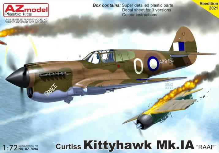 AZ MODEL 1/72 7694 CURTISS KITTYHAWK MK.IA RAAF