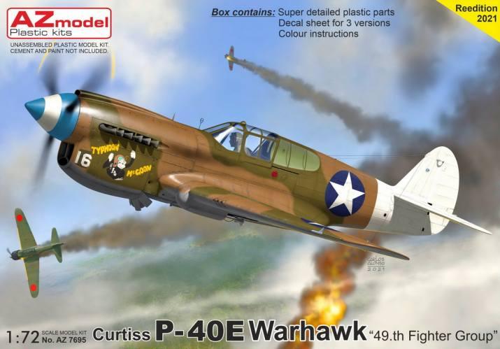 AZ MODEL 1/72 7695 CURTIS P-40E 49TH FIGHTER GROUP