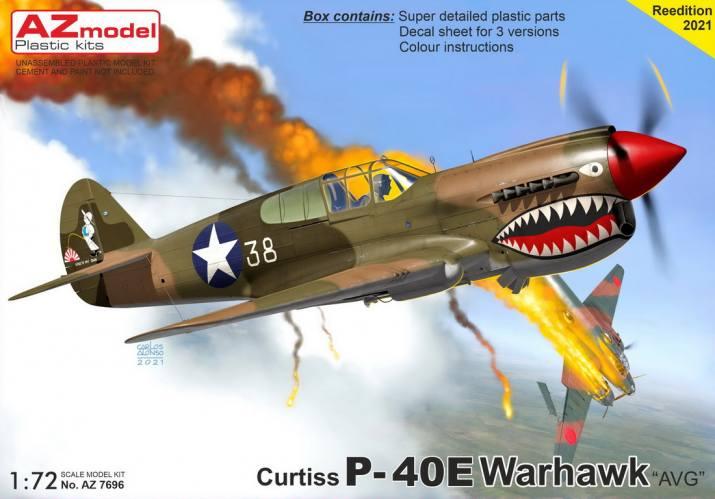 AZ MODEL 1/72 7696 CURTISS P-40E WARHAWK AVG