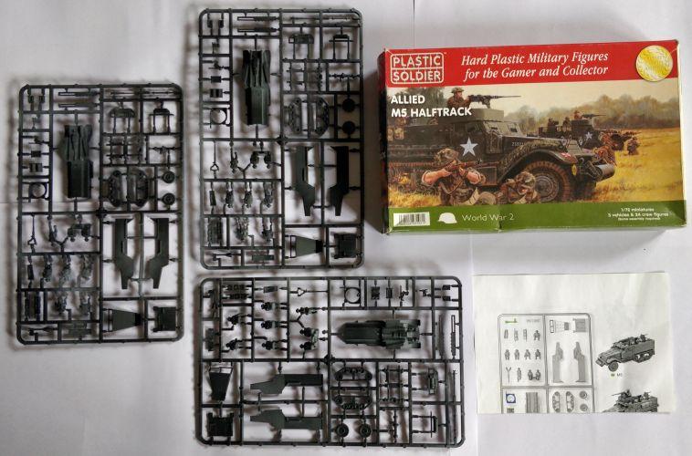 KINGKIT MODEL SCRAPYARD 1/72 PLASTIC SOLDIER - WW2V20013 ALLIED M5 HALFTRACK - PRIMED