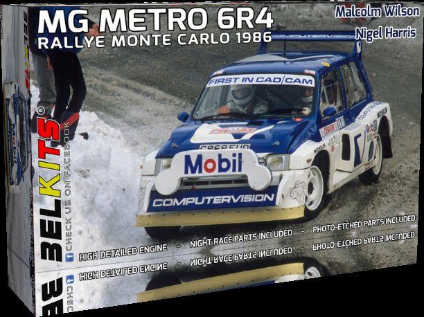 BELKITS 1/24 BEL-015 MG METRO 6R4 RALLY MONTE CARLO 1986 M.Wilson / N.Harris