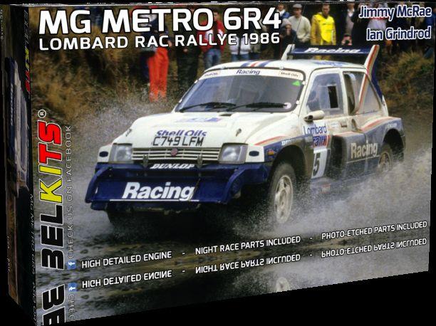 BELKITS 1/24 BEL-016 MG METRO 6R4 LOMBARD RAC RALLY 1986  J.McRae / I.Grindrod