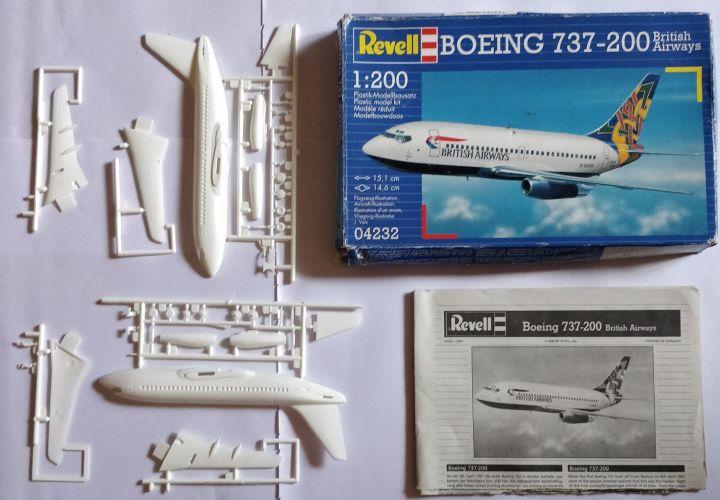 KINGKIT MODEL SCRAPYARD 1/200 REVELL - 04232 BOEING 737-200 BRITISH AIRWAYS - CUT INSTRUCTIONS   NO DECALS
