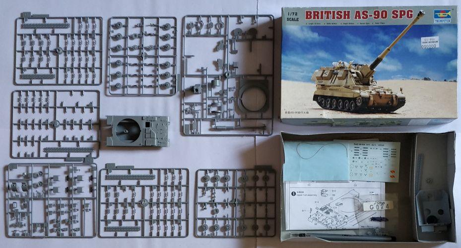 KINGKIT MODEL SCRAPYARD 1/72 TRUMPETER - 07221 BRITISH AS-90 SPG - STARTED