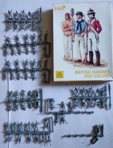 KINGKIT MODEL SCRAPYARD 1/72 HAT - 8098 BRITISH MARINES AND SAILORS - INCOMPLETE