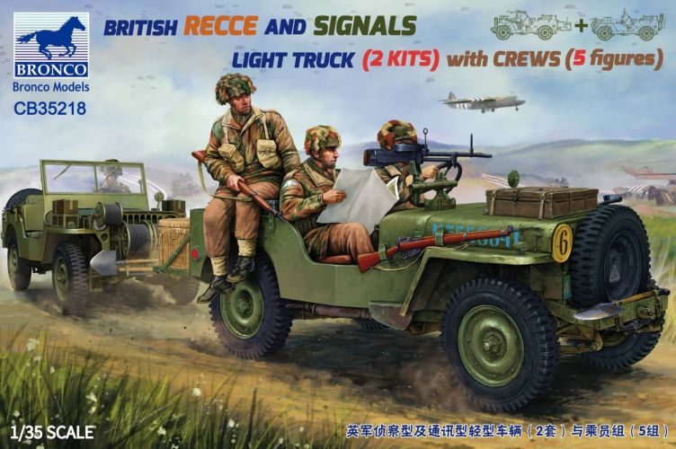 BRONCO 1/35 35218 BRITISH REECE AND SIGNALS LIGHT TRUCK WITH CREWS