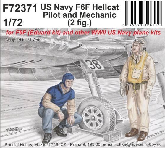 CMK 1/72 72371 US NAVY F6F HELLCAT PILOT AND MECHANIC