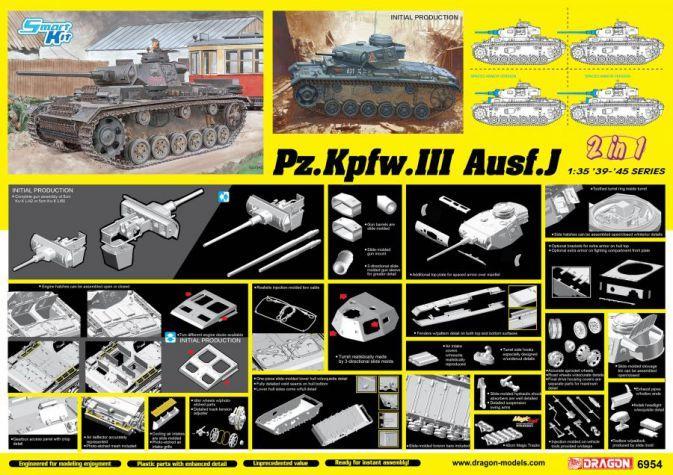 DRAGON 1/35 6954 Pz.Kpfw.III Ausf.j