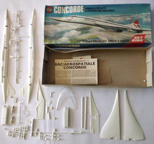 KINGKIT MODEL SCRAPYARD 1/144 AIRFIX - 06175-1 CONCORDE ANGLO-FRENCH SUPERSONIC AIRLINER - CRACKED DECALS