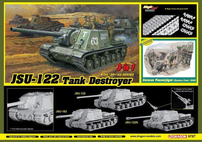 DRAGON 1/35 6787 SOVIET  JSU-122 TANK DESTROYER