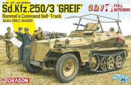 DRAGON 1/35 6911 Sd.Kfz 250/3 GREIF ROMMELS COMMAND HALF-TRACK