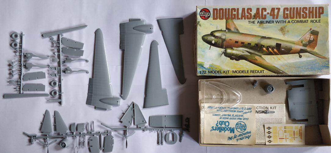 KINGKIT MODEL SCRAPYARD 1/72 AIRFIX - 04016-7 DOUGLAS AC-47 GUNSHIP - NO CANOPY