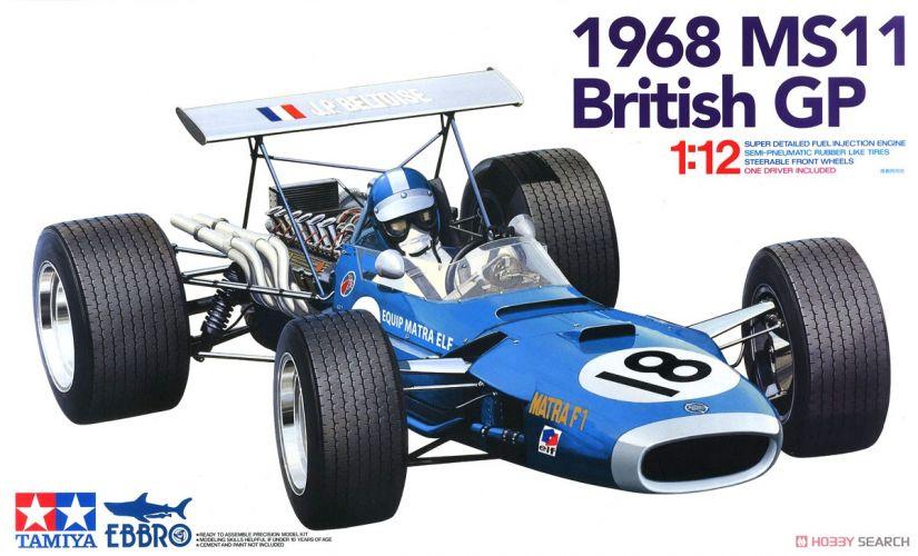 EBBRO 1/12 13001 1968 MATRA MS11 BRITISH GRAND PRIX