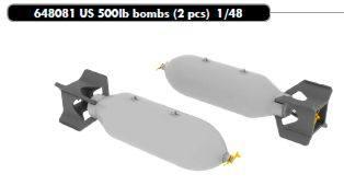 EDUARD 1/48 648081 US 500LB BOMBS W/PHOTO ETCH BRASSIN