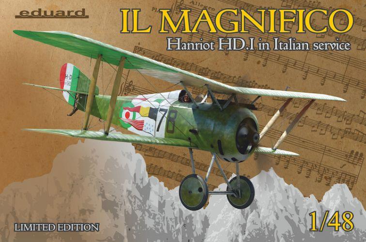 EDUARD 1/48 11139 IL MAGNIFICO HANRIOT HD.I IN ITALIAN SERVICE