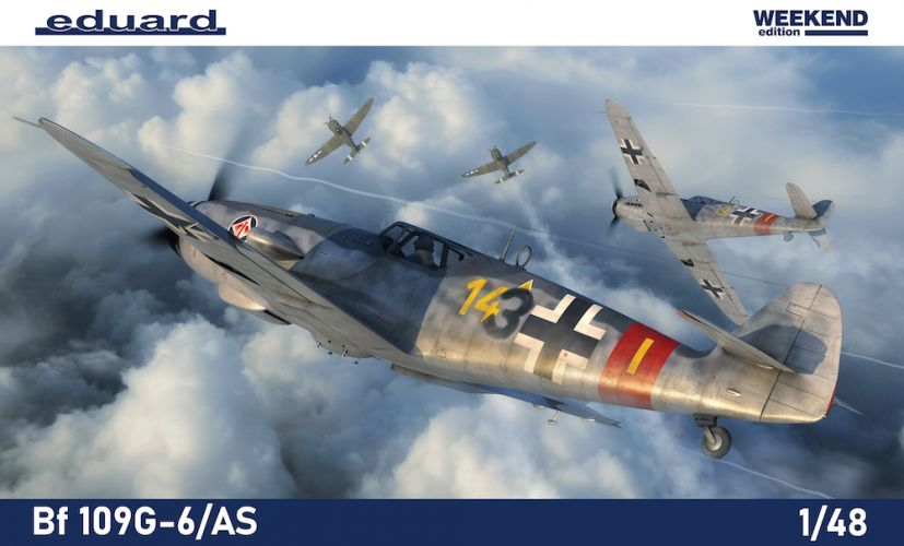 EDUARD 1/48 84169 MESSERSCHMITT BF 109G-6/AS WEEKEND EDITION