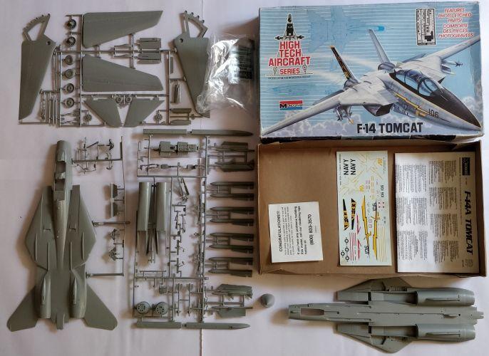 KINGKIT MODEL SCRAPYARD 1/48 MONOGRAM - 5832 HIGH TECH AIRCRAFT SERIES F-14 TOMCAT - INCOMPLETE