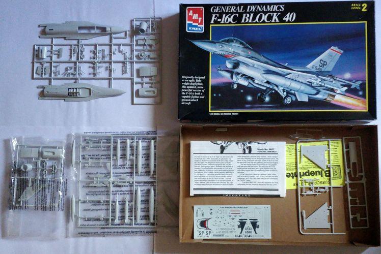 KINGKIT MODEL SCRAPYARD 1/72 AMT ERTL - 8927 GENERAL DYNAMICS F-16C BLOCK 40 - INCOMPLETE