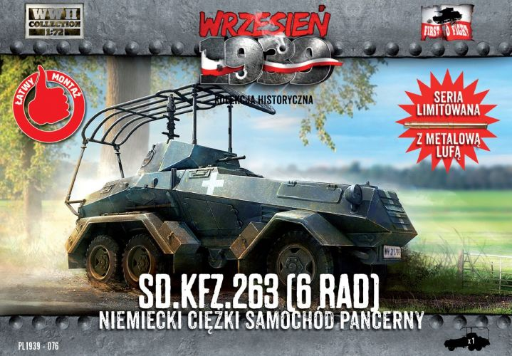 FIRST TO FIGHT 1/72 076 Sd.Kfz.263 6-rad - German Heavy Armored Car