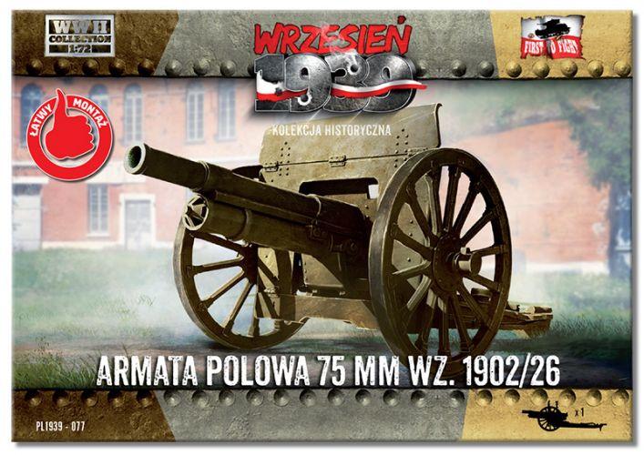 FIRST TO FIGHT 1/72 077 ARMATA POLOWA 75 MM WZ.1902/26