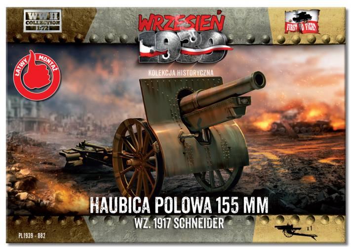 FIRST TO FIGHT 1/72 082 155mm Howitzer field wz. 1917 Schneider