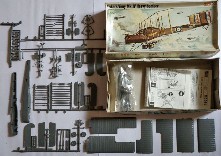 KINGKIT MODEL SCRAPYARD 1/72 FROG - F163 VICKERS VIMY MK.IV HEAVY BOMBER - NO DECALS   INCOMPLETE