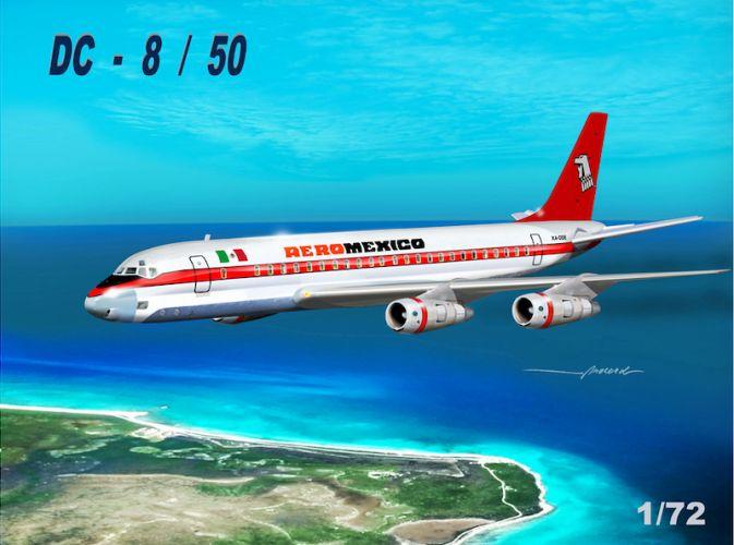 MACH 1/72 GP110AMX DOUGLAS DC-8/50 AERO MEXICO